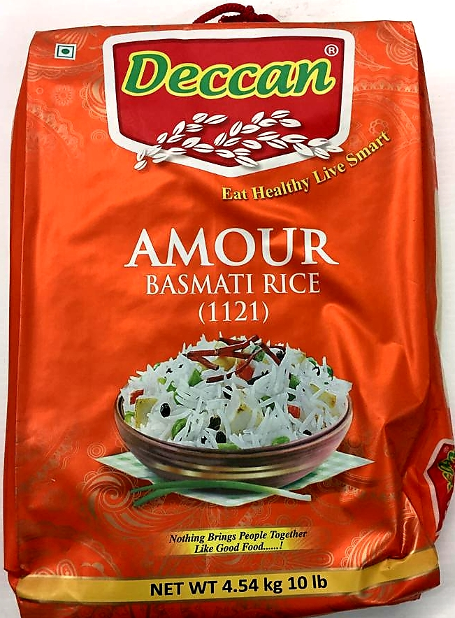 Deccan Amour 1121 Basmati Rice - 10 Lb