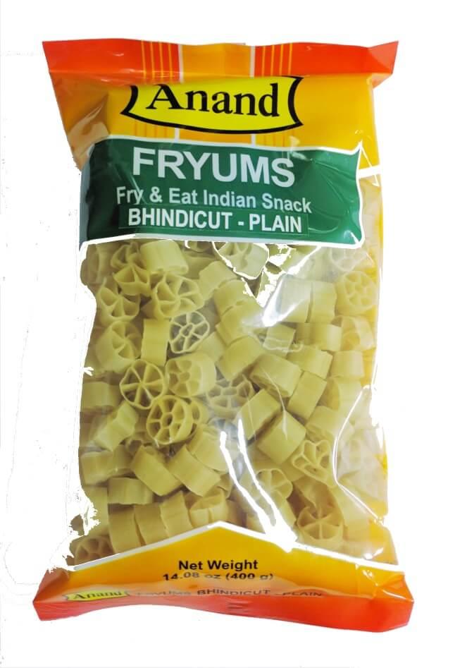 Anand Fryums Bhindi Cut Plain - 400 Gms (14 OZ)