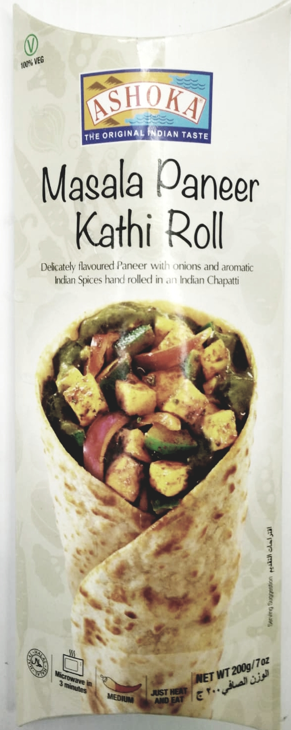 Ashoka Masala Paneer Kathi Roll (Frozen) - 200g