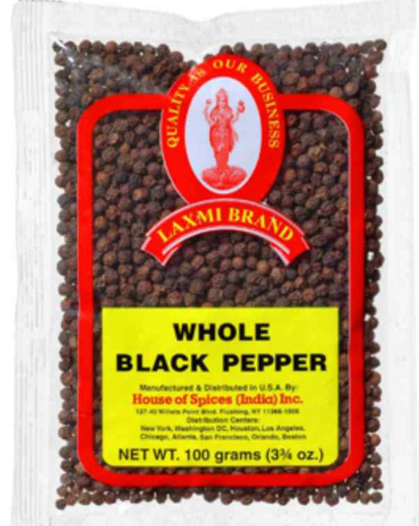 whole black pepper - 3.5 Oz