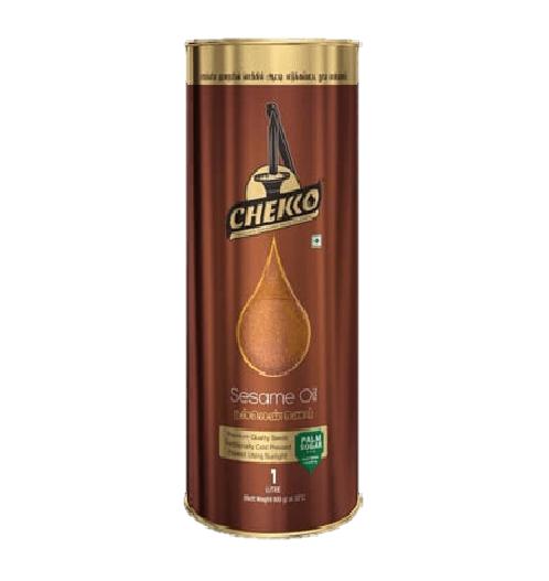 Chekko Wood Cold Pressed Sesame Oil - 1 litre