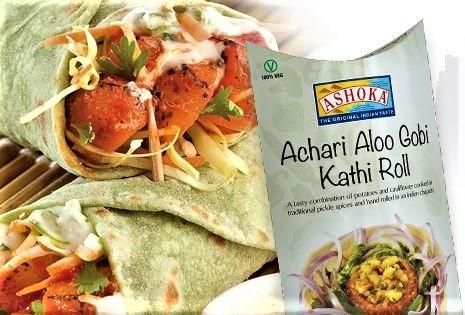 Ashoka Achari Aloo gobhi Kathi Roll (Frozen) - 200g