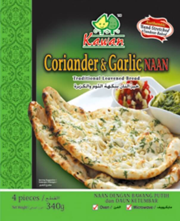 Kawan Corriander and Chilli Naan - 4 Pc