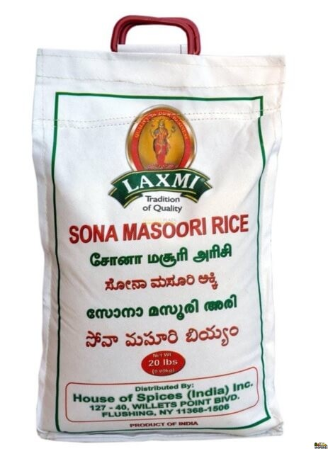 Shoperies Com Laxmi Sona Masoori Rice 20 Lb Get Indian