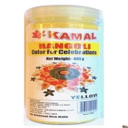 Kamal Rangoli Color Yellow - 400 Gm