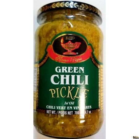Deep Green Chilli Pickle - 10 Oz