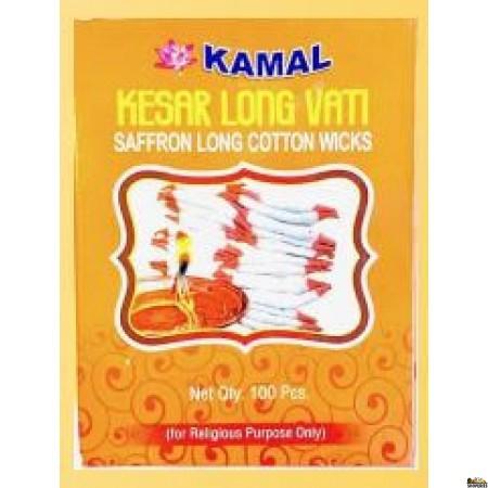 Kamal Kesar Long Wick In Box Packing - 100 Pcs