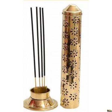 Brass Agarbatti Stand - Pipe