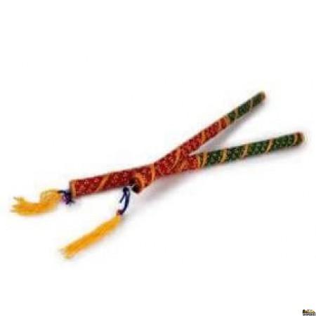 Bandhani Dandiya Sticks (Pair)