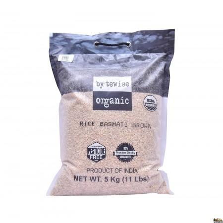 Bytewise Organic Biryani Brown Basmati Rice - 10 Lb