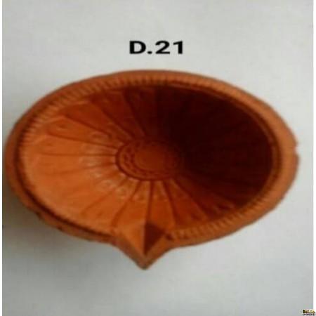 Clay Diya No 1 10 Pcs