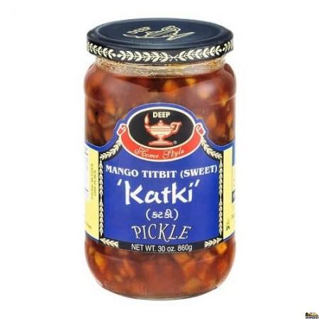 Deep Mango Titbit (sweet) Katki Pickle - 30 Oz