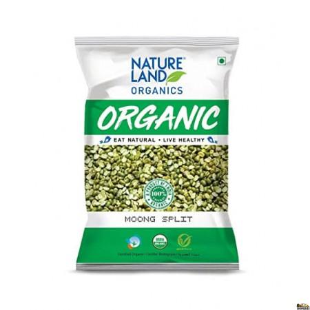 Nature Land Organic Green Moong Split - 2 Lb