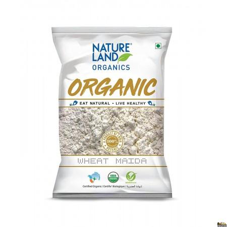 Nature Land Organic Wheat Maida Flour - 2 Lb