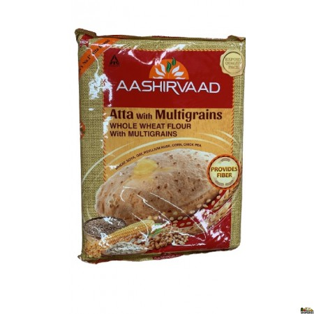 Aashirvaad Whole Wheat Multigrain Flour - 4 Lb