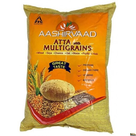 Aashirvaad Whole Wheat Multigrain Flour - 20 Lb
