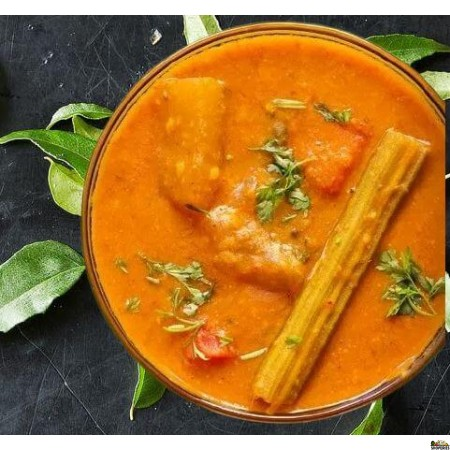 {{vegan}} Adyar Kitchen Drumstick Varuthu Araitha Sambar - 24 Oz {{spicy}}