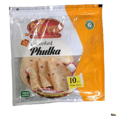 Arva - uncooked Whole Wheat Phulka Roti - 10 Count