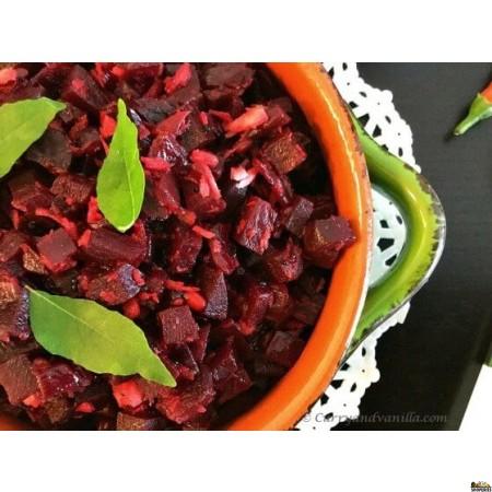 {{vegan}} Adyar Kitchen Beets Poriyal - 24 Oz {{spicy}}