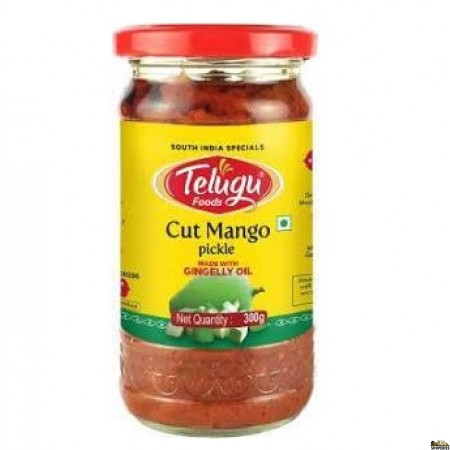 Telugu Cut Mango Without Garlic Pickle - 300gm