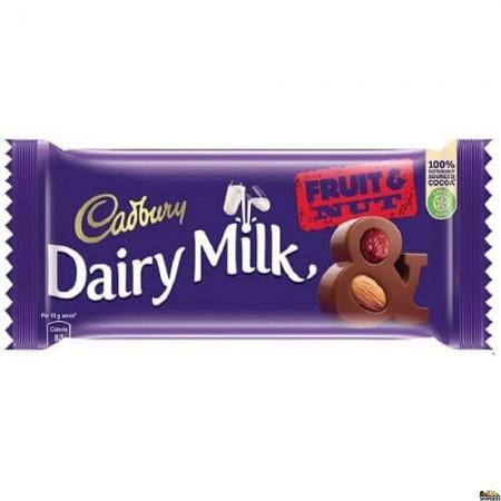 Cadbury Dairy Milk Fruit & Nut Chocolate - 110 Gm