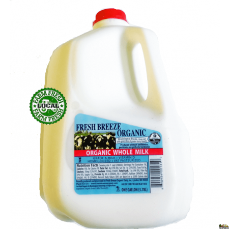 Fresh Breeze Organic Whole Milk - 1 gal