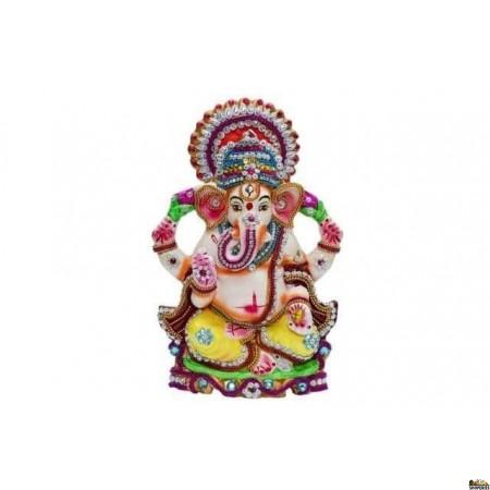 "Eco Friendly Ganesha Idol 9"" Inch - White Color"