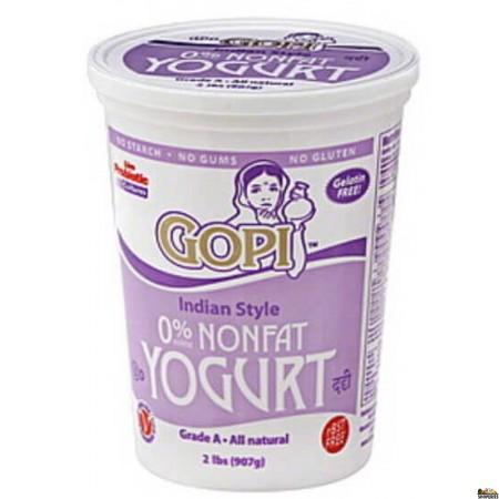 Gopi Fat Free Yogurt - 4 lb
