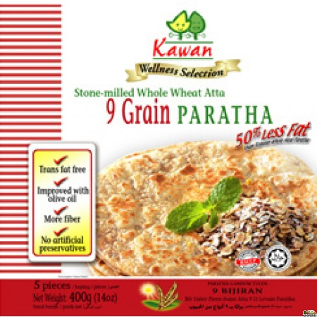 Kawan 9 Grain Whole Wheat Paratha - 5pc*80gm