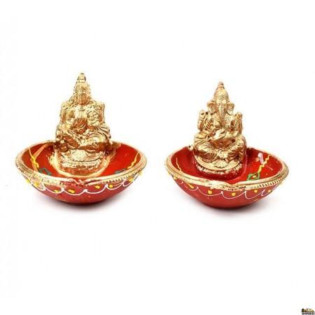 Laxmi  and Ganesh Bowl Diya - Set