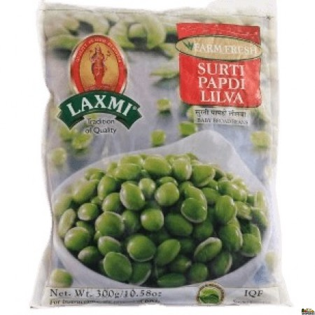 Laxmi Frozen Surti Papdi Lilva - 300 g