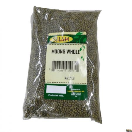 Shah Green Moong Whole - 2 Lb