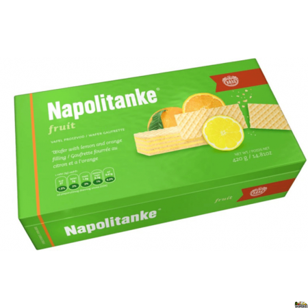 Napolitanke Kras Lemon Orange Wafers - 330 gms
