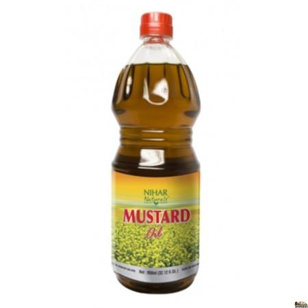 Nihar Mustard Oil by Parachute - 1 Ltr