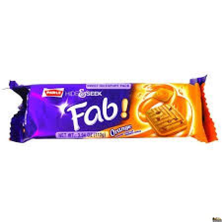 Parle Hide & Seek Fab cracker orange biscuits - 112g