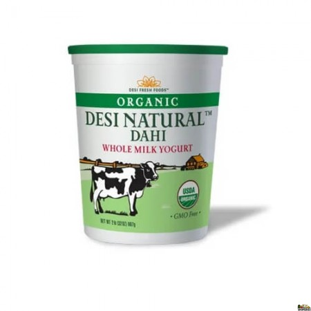 Organic Desi Natural Dahi Whole Milk Yogurt - 2 Lb