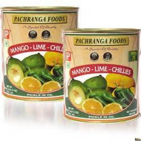 Pachranga Mango and Lime Chilli Pickle - Tin  800 gm