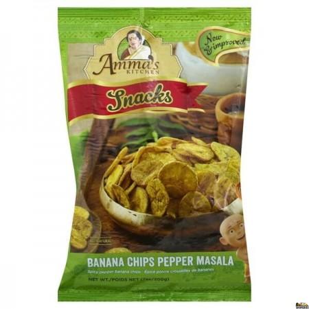 Ammas Kitchen Banana Chips Pepper Masala - 200 gm