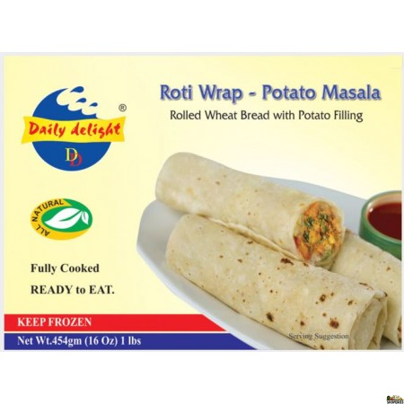 Daily Delight Roti Wrap - Potato Masala - 16 Oz