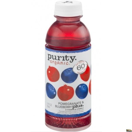 Purity Organic Juice Drink Pomegranate & Blueberry Plus - 16 Oz