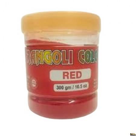 Rangoli Colour - Red - 300 Gm Jar