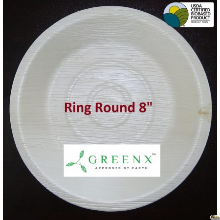 GREENX 8Inch Deep Round Bowl - (25 Plated)