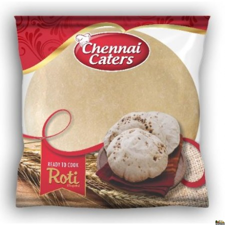 Chennai Caters - Uncooked Whole Wheat Roti - 800 gms 18 Count