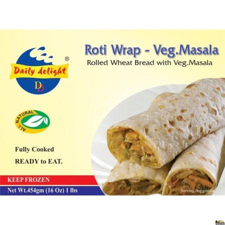 Daily Delight Roti Wrap - Veg Masala - 16 Oz
