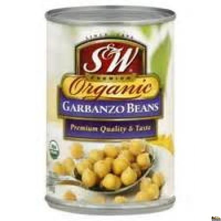 S&W Organic Garbanzo Beans - 15 Oz