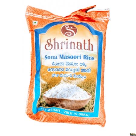 Shrinath Sona Masoori Rice - 20 lb