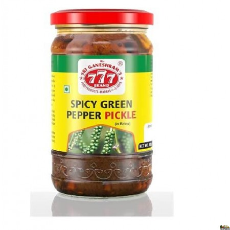777 Spicy Green Pepper Pickle - 300 Gm