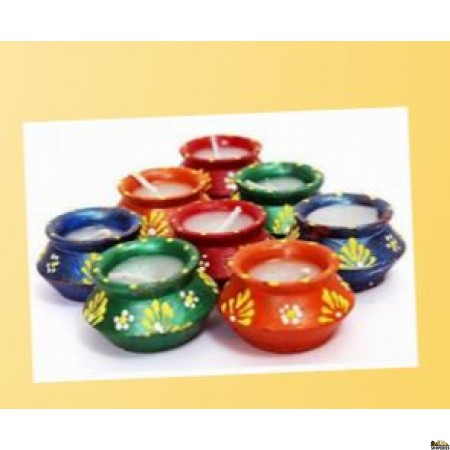 SVX-163 Colourful Matki Dia With Wax - 7 Count