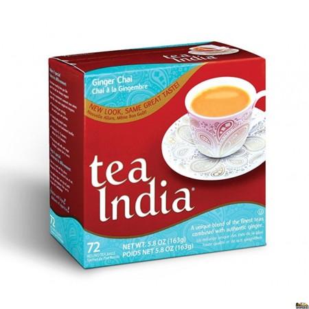 Tea India ginger chai tea bags - 72 Cnt