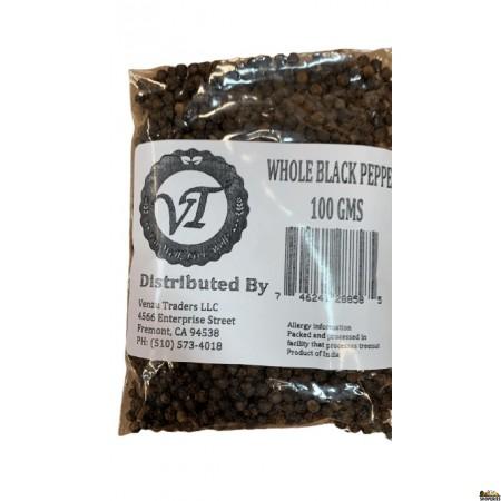 Venzu Black Pepper Whole - 100 Gm